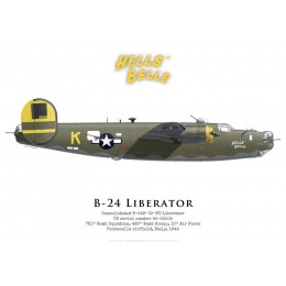 "Consolidated B-24H-15-FO 42-52505 ""Hell's Belle"", 781st Bomb Squadron, 465th Bomb Group, Italie, 1944"