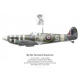 "Spitfire Mk Vb, Wg Cdr Bernard Dupérier, GC n°2 ""Ile-de-France"", No 340 (Free French) Squadron, Royal Air Force, 1942"