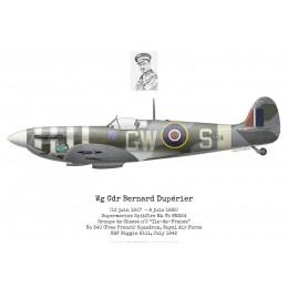 "Spitfire Mk Vb, Wg Cdr Bernard Dupérier, GC n°2 ""Ile-de-France"", No 340 (Free French) Squadron, Royal Air Force, 1942"