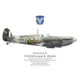 Supermarine Spitfire Mk IIa, P/O William Dunn, No 71 (Eagle) Squadron, RAF North Weald, Août 1941