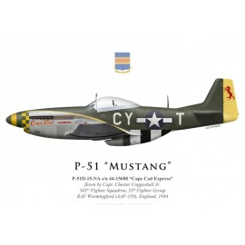 "P-51D Mustang ""Cape Cod Express"", Capt. Chester Coggeshall Jr., 343rd Fighter Squadron, 55th Fighter Group, 1944"