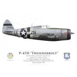 "P-47D Thunderbolt ""Lethal Liz II"", 2Lt. Arthur Davis, 81st S, 50th FG, Carentan, France, 1944"