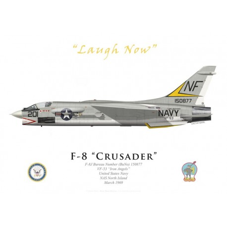 "Vought F-8J Crusader, VF-53 ""Iron Angels"", NAS North Island, 1969"