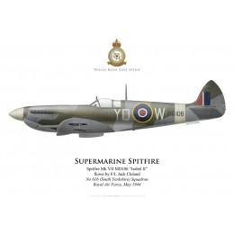Supermarine Spitfire Mk VII MD106, F/L Jack Cleland, No 616 (South Yorkshire) Squadron, Royal Air Force, mai 1944