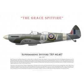 """Spitfire TR9 ML407, """"The Grace Spitfire"""", juillet 2017"""