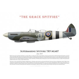 """Spitfire TR9 ML407, """"The Grace Spitfire"""", juin 2019"""