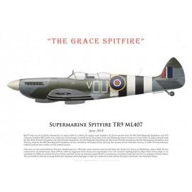 "Spitfire TR9 ML407, ""The Grace Spitfire"", June 2019"