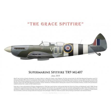 "Supermarine Spitfire TR9 ML407, ""The Grace Spitfire"", June 2019"