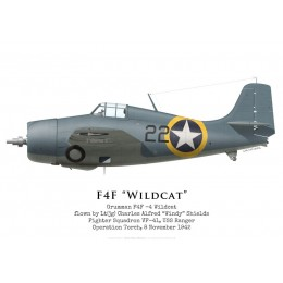 "Grumman F4F-4 Wildcat, Lt(jg) ""Windy"" Shields, VF-41, USS Ranger, Operation Torch, 1942"