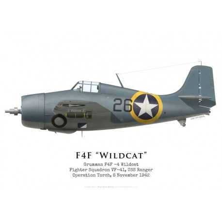 F4F-4 Wildcat, VF-41, USS Ranger, Operation Torch, 1942