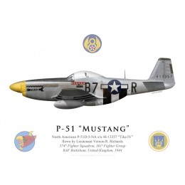 "P-51D Mustang ""Tika IV"", Lt. Vernon Richards, 374th Fighter Squadron, 361st Fighter Group, 1944"