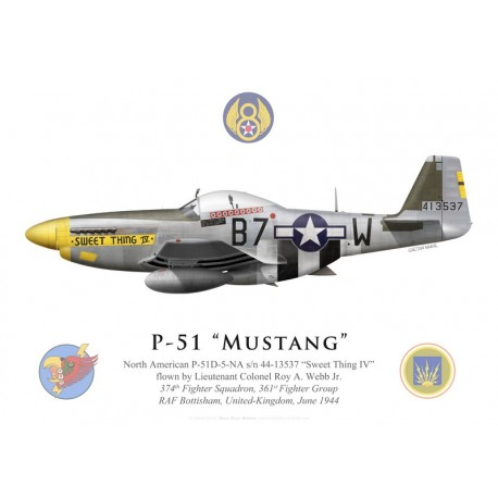"P-51D Mustang ""Sweet Thing IV"", Lt. Col. Roy Webb Jr., 361st Fighter Group, 374th Fighter Squadron, 1944"