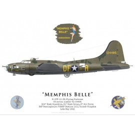 "B-17F Flying Fortress ""Memphis Belle"", 324th BS, 91st BG, USAAF, mai 1943"