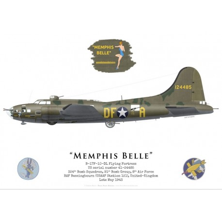 "B-17F Flying Fortress 41-24485 ""Memphis Belle"", 324th BS, 91st BG, USAAF, May 1943"