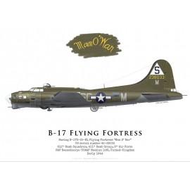 """B-17G Flying Fortress """"Man O' War"""", 612th BS, 401st BG, USAAF, 1944"""