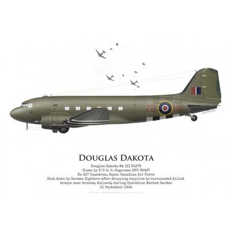 Douglas Dakota Mk III KG376, F/O P. Hagerman, No 437 Squadron RCAF, Operation Market Garden, 21 September 1944