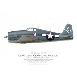 F6F-3 Hellcat, Lt. William C Moseley, VF-1, USS Yorktown, June 1944