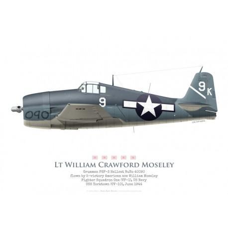 F6F-3, Lt. William C Moseley, VF-1, USS Yorktown, June 1944