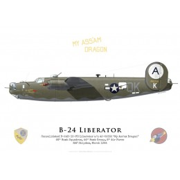 "Consolidated B-24H ""My Ass'Am Dragon"" 42-52332, 66th Bomb Squadron, 44th Bomb Group, 8th Air Force, 1944"