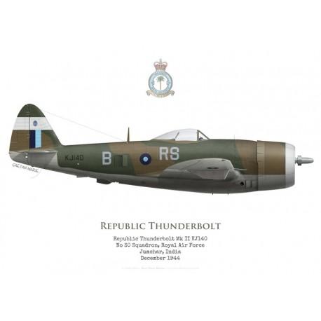 Republic Thunderbolt Mk II KJ140, No 30 Squadron RAF, Jumchar, India, 1944