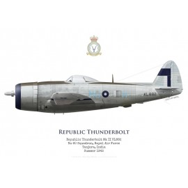 Thunderbolt Mk II, No 60 Squadron RAF, Tanjore, Inde, 1945