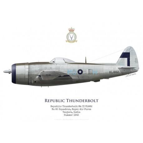 Republic Thunderbolt Mk II KL882, No 60 Squadron RAF, Tanjore, Inde, 1945