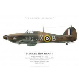 Hawker Hurricane Mk I, F/L Arthur Clowes DFC, No 1 Squadron, Royal Air Force, November 1940