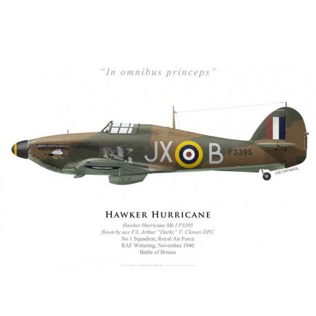 Hawker Hurricane Mk I, F/L Arthur Clowes DFC, No 1 Squadron, Royal Air Force, novembre 1940