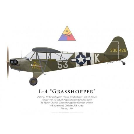 "Piper L-4 Grasshopper ""Rosie the Rocketer"", Maj. Charles Carpenter"
