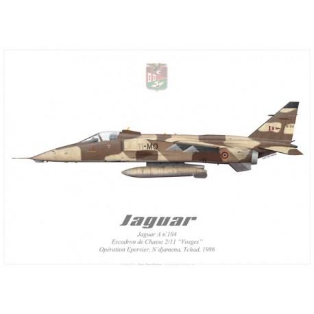 """Jaguar A, EC 2/11 """"Vosges"""", Opération Epervier, Chad, 1986"""