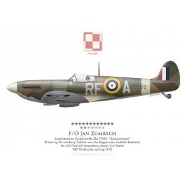 Spitfire Mk IIa, F/O Jan Zumbach, No 303 (Polish) Squadron, Royal Air Force, 1941