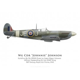 "Spitfire Mk IXc, Wg Cdr ""Johnnie"" Johnson, No 144 (RCAF) Wing, 1943"