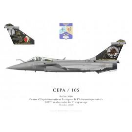 Rafale M30, DET CEPA / 10S, Centenary of the first ship landing, October 2020