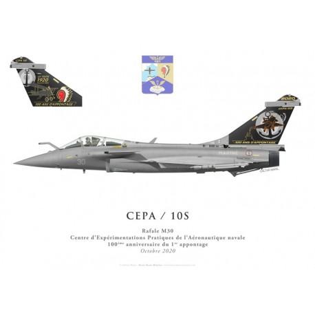 Rafale M30, DET CEPA / 10S, Centenaire du premier appontage, octobre 2020