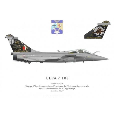 Dassault Rafale M30, DET CEPA / 10S, Centenaire du premier appontage, octobre 2020