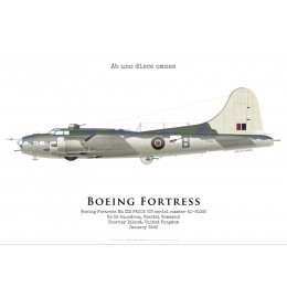 Boeing Fortress IIA FK202, No 59 Squadron, Coastal Command, Royal Air Force, 1943