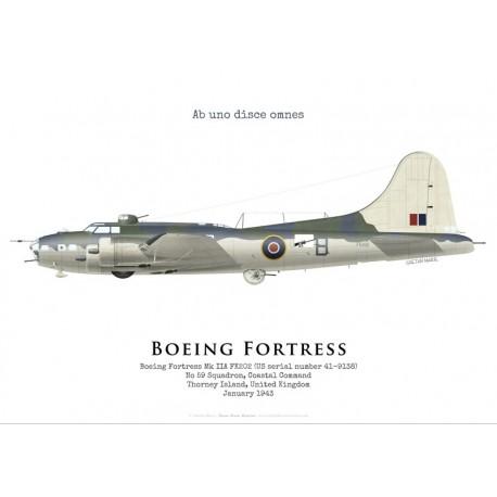 Boeing Fortress IIA FK202, No 59 Squadron, Coastal Command, Royal Air Force, 1943