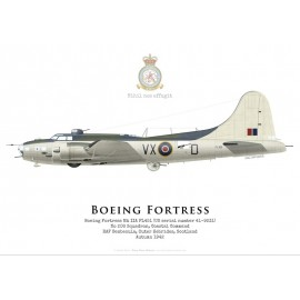 Fortress IIA FL451, No 206 Squadron, Coastal Command, Royal Air Force, 1943