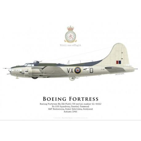 Boeing Fortress IIA FL451, No 206 Squadron, Coastal Command, Royal Air Force, 1943