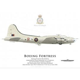 Fortress IIA FA704, No 206 Squadron, Coastal Command, Royal Air Force, 1943