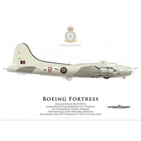 Boeing Fortress IIA FA704, No 206 Squadron, Coastal Command, Royal Air Force, 1943