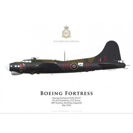 Boeing Fortress B.III KJ117, No 223 Squadron, 100 Group, Royal Air Force, 1945