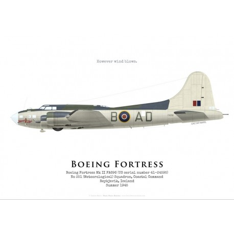 Boeing Fortress II FA696, No 251 (Meteorological) Squadron, Iceland, 1945
