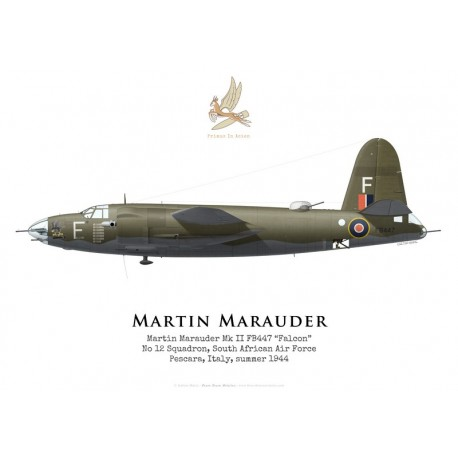 "Martin Marauder Mk II FB447 ""Falcon"", No 12 Squadron SAAF, 1944"