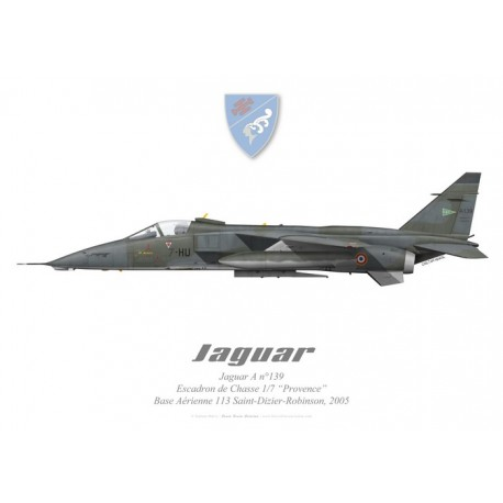 """Jaguar A, Escadron de Chasse 1/7 """"Provence"""", BA 113 Saint-Dizier-Robinson, French Air Force"""