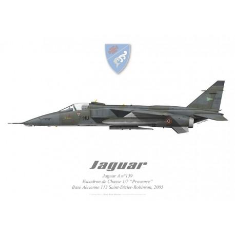 """Jaguar A, Escadron de Chasse 1/7 """"Provence"""", BA 113 Saint-Dizier-Robinson"""
