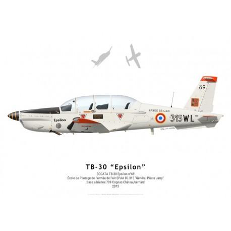 SOCATA TB-30 Epsilon n°69, EPAA 00.315, BA 709 Cognac-Châteaubernard, 2013