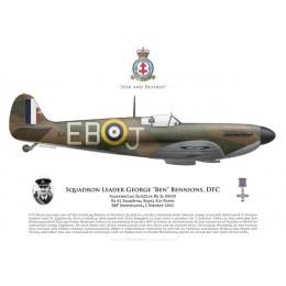 "Spitfire Mk Ia, S/L George ""Ben"" Bennions, No 41 Squadron RAF"