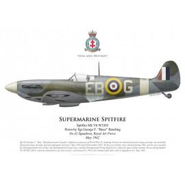 "Spitfire Mk Vb, Sgt George ""Buzz"" Beurling, No 41 Squadron, Royal Air Force, mai 1942"