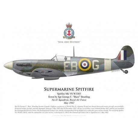 "Spitfire Mk Vb, Sgt George ""Buzz"" Beurling, No 41 Squadron, Royal Air Force, May 1942"